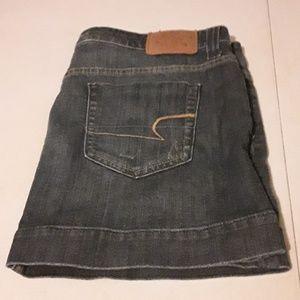 American eagle blue Jean mini skirt